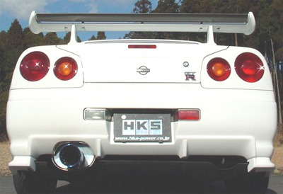 HKS Super Turbo Muffler for R34: 31029-AN003