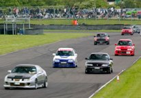 Cars on the track at Japfest
