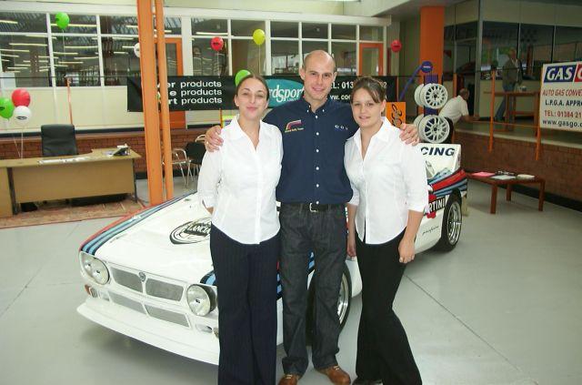 Martin Rowe with Sam and Tessa