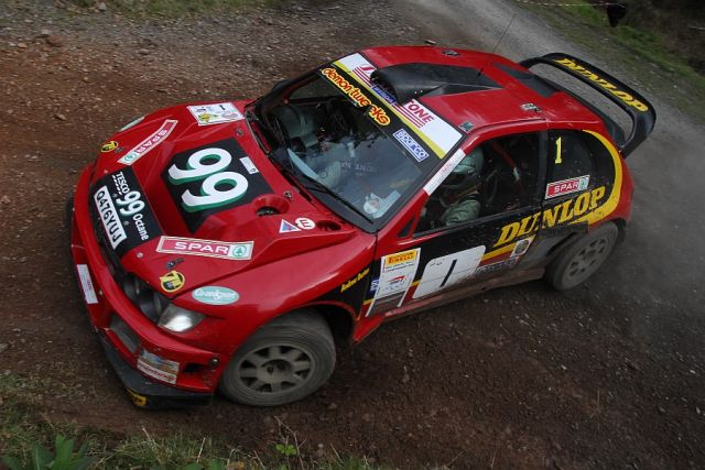Burton and Rogerson in action on last year's Somerset Stages