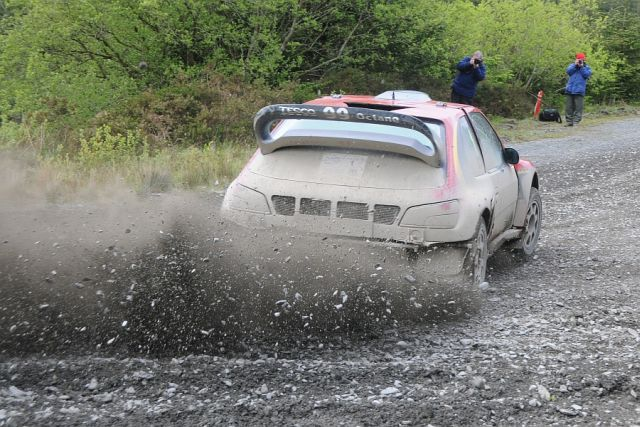 Burton and Rogerson in action on the Plains Rally