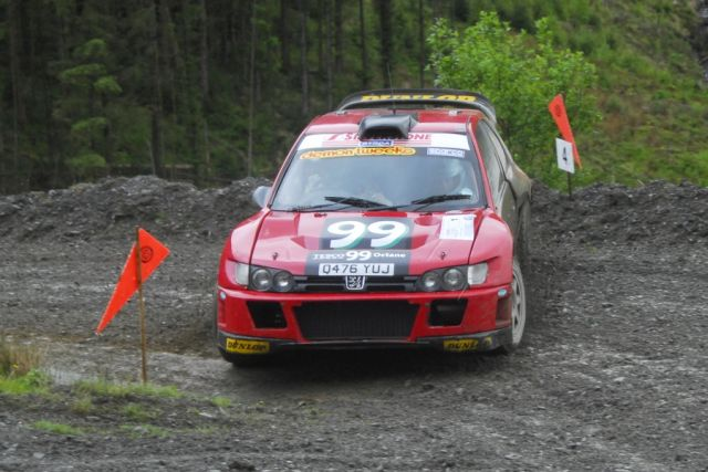 Burton and Rogerson on the Plains rally