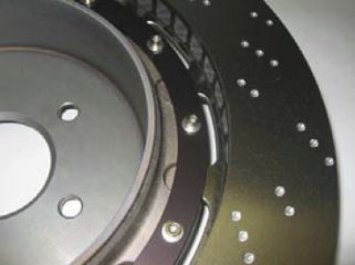 Rear disc with integral drum
