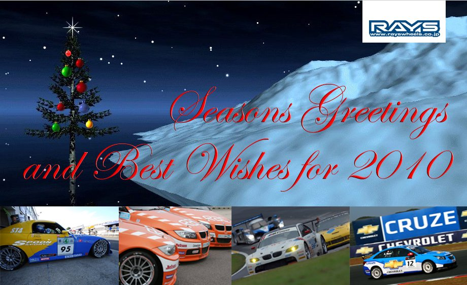 Seasons Greetings and Best Wishes for 2010 from RAYS Wheels