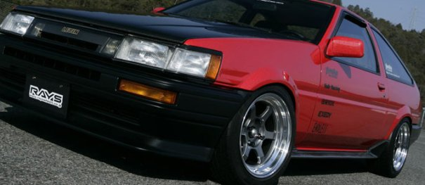 VOLK Racing TE37V Fitted to a Toyota AE86 Corolla