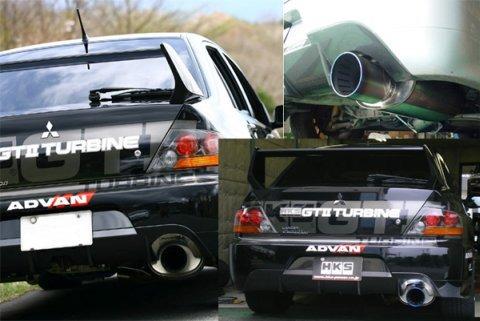 HKS Super Turbo Exhaust Muffler for CT9A Lancer Evolution 7, 8, 9