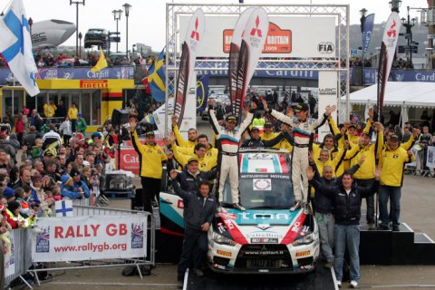Ralliart Italy Win at Rally Great Britain PWRC 2009